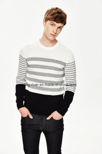 Wholesale Round Neck Striped Knit Men Sweater pictures & photos
