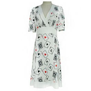 Silk Women Fashion Dress Ladies Apparel