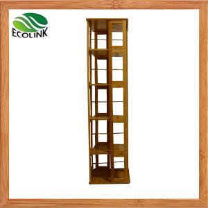 Bamboo Revolving Bookstand / Living Room Storage Shelf pictures & photos