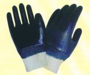 Interlock Nitrile Coated Safety Working Gloves pictures & photos