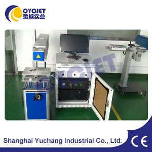 Statonary Fiber Laser Engraving Machine for Metal Tags pictures & photos
