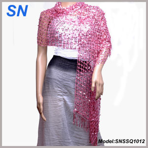 Women′s Shimmer Scarf, Evening Wrap, Sequin Scarve pictures & photos