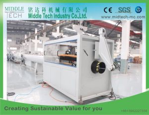 Plastic PVC/PE/PP/PPR Water& Electric Conduit Pipe/Tube/Profile/Sheet (extruder, haul off, cutting winding, belling) Extrusion/Extruding Making Machine pictures & photos