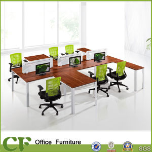 L Shaped Wooden Modular Workstation Tables pictures & photos