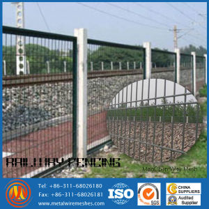 Galvanized / PVC Coated Railway Safety Fence / Weld Wire Fence