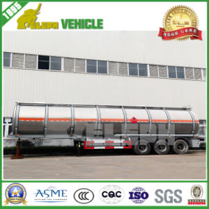 3 Axles German Suspension Tank Trailer Aluminium Tank for Edible Oil/Water Storage pictures & photos
