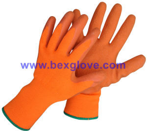 13 Gauge Acrylic Liner, Brushed, Latex Coating, Crinkle Finish Glove pictures & photos