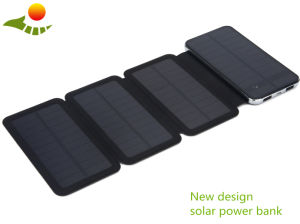 2017 New Design 10000 mAh Waterpfoor Portable Solar Energy Power Bank Sale pictures & photos