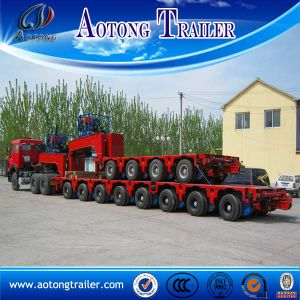 8 Line Self Propelled Modular Semi Trailer, 200 Tons Low Bed Trailer pictures & photos