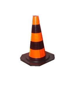 50cm Orange Black Rubber Road Cone pictures & photos
