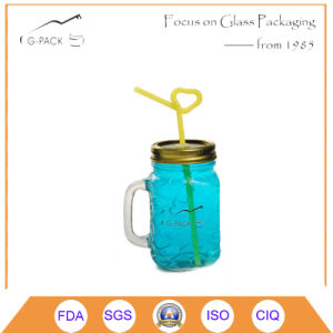Mason Jar Drinking Glass with Straw/Drinking Mug, Beer Mugs pictures & photos