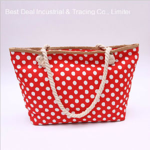 Dots Design Straw Large Buckle Ladies Bag pictures & photos
