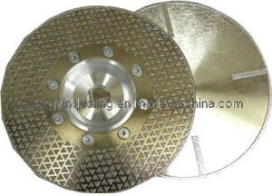 Electroplated Diamond Cutting Blade with Flange