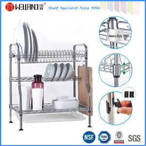 Patented DIY Chrome Metal Kitchen Dish Drainer Rack pictures & photos