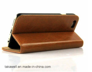 Top Quality OEM Cell Phone Case First Layer Cow Leather Case for iPhone 5 Se Mobile Phone Cover pictures & photos
