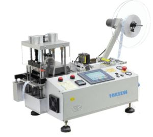 Automatic Hot Knife Tape Cutting Machine with Punching Hole and Collecting Device pictures & photos