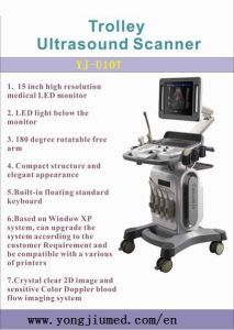 China Trolley Color Doppler Ultrasound Scanner Manufacturer pictures & photos