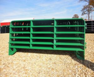 6rails 12foot Powder Coated Steel Cattle Panels/Used Livestock Panels pictures & photos