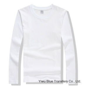 Men′s Long Sleeve T-Shirts in White pictures & photos
