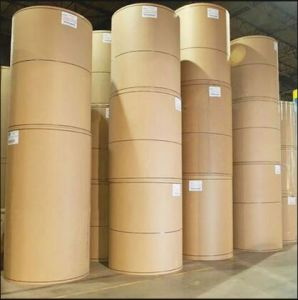 White Top Testliner and Kraft Liner Paper Board Rolls pictures & photos