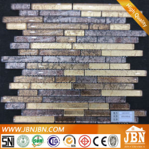New Design Wall Golden Tinfoil Glass Mosaic (G855019) pictures & photos
