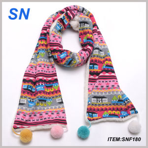 2015 Winter Fashion Women′s Pompom Scarf pictures & photos