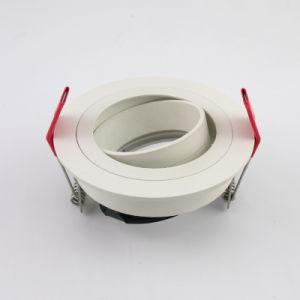 Lathe Aluminum GU10 MR16 Round Tilt Recessed LED Ceiling Light (LT2304B) pictures & photos