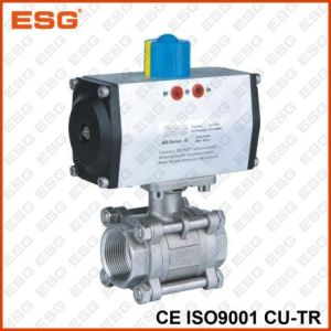 Double Acting Pneumatic Stainless Steel Ball Valve pictures & photos
