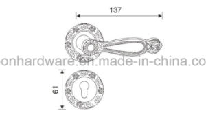 Zinc Alloy Door Handle on Rose - 839 pictures & photos