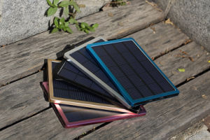 Big Solar Charger Wall 10000mAh Portable Power Bank for Phone Black pictures & photos