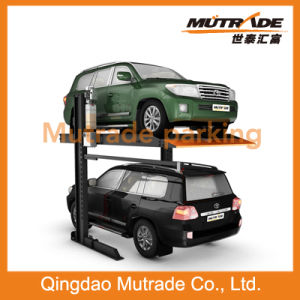 CE 2 Floors Two Cars Parking Lifter Two Post Double Layer Car Hydraulic Parking Lift pictures & photos