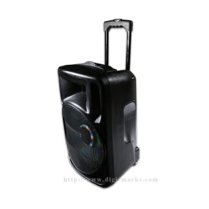 "15"" Karaoke Speaker Trolley Speaker with High Output Power Rechargeable Battery pictures & photos"