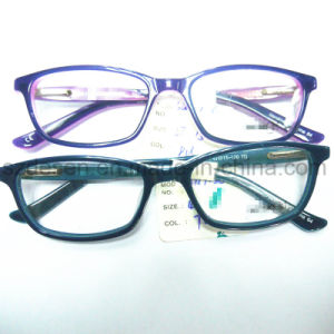 High Quality Classical Double Color Acetate Eyeglasses Ce, FDA Optical Frame pictures & photos