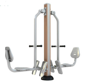 Wood-Plastic Seated Outdoor Gym Equipment pictures & photos