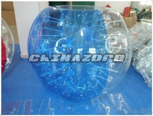 Half Blue and Half Clear Inflatable Bubble Soccer pictures & photos