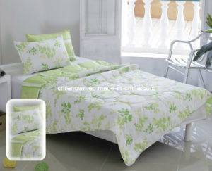 Printed Quilt, Comforter-PP02 Green Flower
