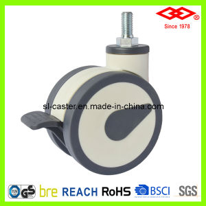 100mm High Quality Swivel Screw Locking All Plastic Caster (L530-34F100X60DS) pictures & photos