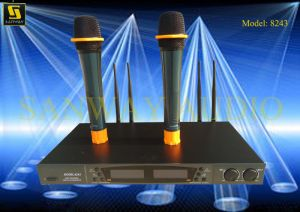Double Channels UHF Cordless Microphone (8243) pictures & photos