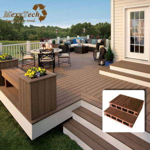 WPC Decking Plank for Garden Application (Europe Design) pictures & photos