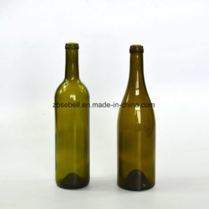 Popular Wine Glass Bottle in 750ml with Dark Green Color (NA-006) pictures & photos