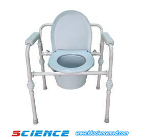 Kd Style Folding Commode Chair (iron) pictures & photos
