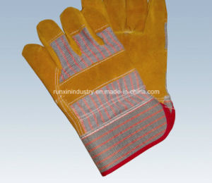 Cow Split Leather Working Gloves 1107 pictures & photos