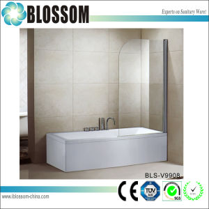 Sanitary Ware Bathroom Tempered Glass Pivot Adjustable Bathtub Shower Screen pictures & photos