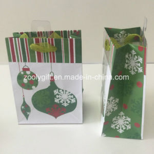 Glitter Spots Jingling Bell Printing Christmas Paper Gift Bag pictures & photos