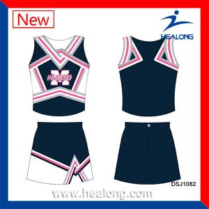 Healong Team Wholesale Full Dye Sublimation Cheerleading Jerseys Uniforms pictures & photos