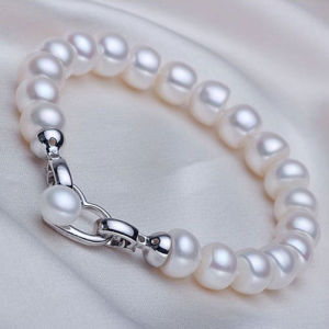 8-9mm Freshwater Pearl Bracelet with Heart Shape Clasp pictures & photos