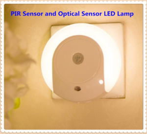 Round Infrared Control and Optical Sensor LED Night Light pictures & photos