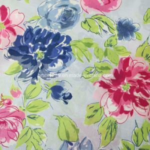 100%Cotton Voile Fabric for Garments with Flower Printed (60X60/90X88)