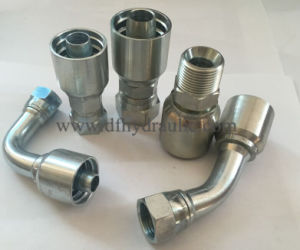 Integrated Hose Fittings 45° Jic Femail74° Cone Seat SAE J514 pictures & photos