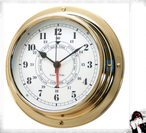 Dial 180mm Brass Case Marine Time & Tide Clock pictures & photos
